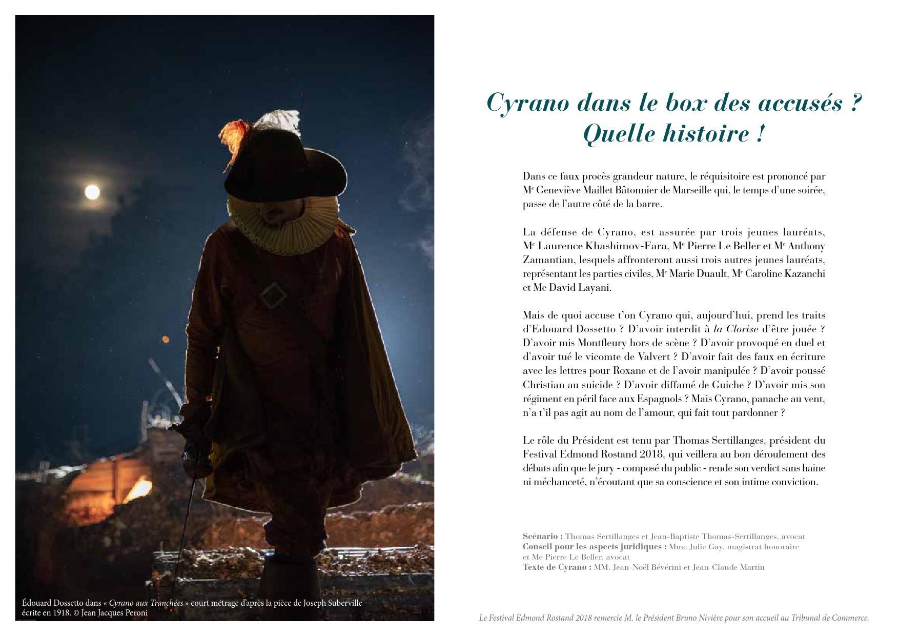 Le Faux Proces De Cyrano A Marseille Monsieur Legionnaire